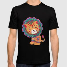 The Little King of the Jungle Mens Fitted Tee Black MEDIUM