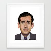 michael scott Framed Art Prints featuring Michael Scott-World's Best Boss by Dylan Holden