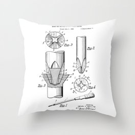 Phillips Screwdriver: Henry F. Phillips Screwdriver Patent Throw Pillow