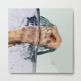Punching Water Metal Print