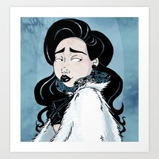 Fur Cape Art Print