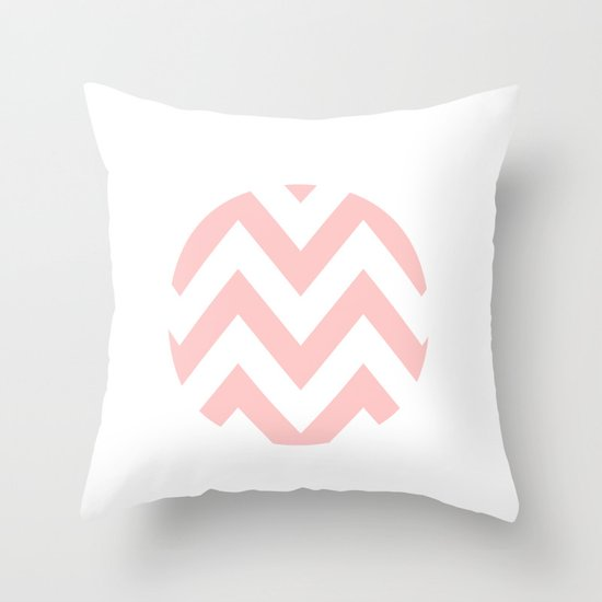WHITE CIRCLE CHEVRON 2 Throw Pillow