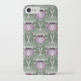 Lavender Flowers Art Nouveau Inspired Floral Pattern iPhone Case
