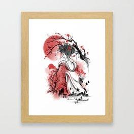 Geisha dream Framed Art Print