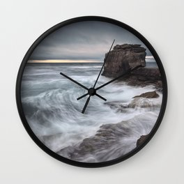 Winter's Nearly Here Wall Clock
