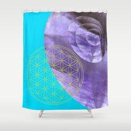 Mystical Flower of Life Amethyst #society6 Shower Curtain