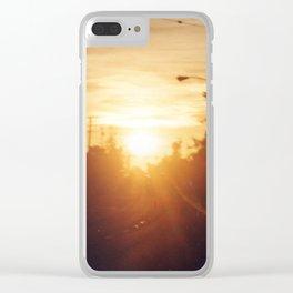 Golden Milk Sky Clear iPhone Case