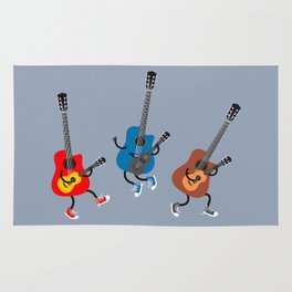 Dancing guitars Rug