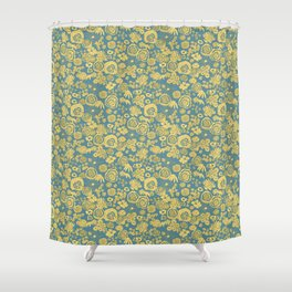 Scribble Ditsy Floral Shower Curtain