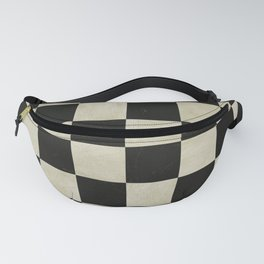 Distressed Chessboard Fanny Pack