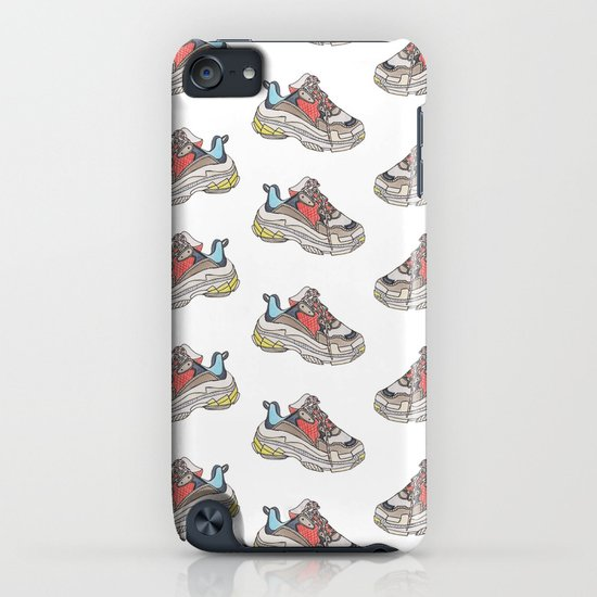 17409ae70830 Balenciaga Triple S Sneaker Pattern Illustration iPhone Case by quickstop