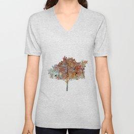 Trees In Fall Unisex V-Neck