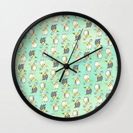 Confused Cockatiel - Pattern Wall Clock