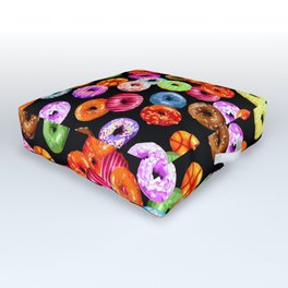 Multicolored Yummy Donuts Outdoor Floor Cushion