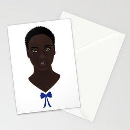 Mujer con moño azul Stationery Cards