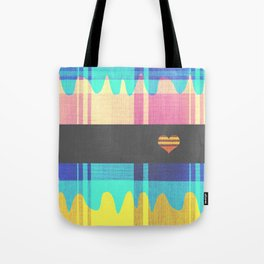 Patterned HeartBeat Tote Bag
