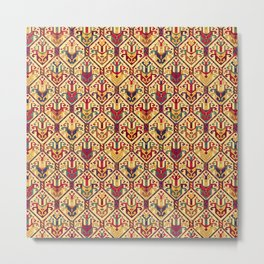 Kilim Fabric Metal Print
