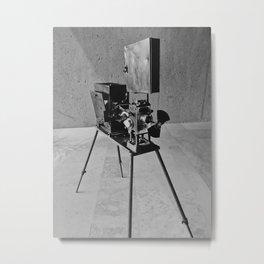 Vintage Cinema Camera Metal Print