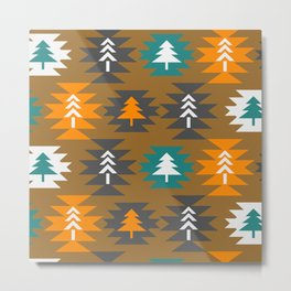 Christmas cabin decor Metal Print