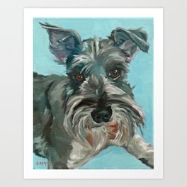 Schnauzer Dog Portrait Art Print