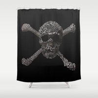 the goonies Shower Curtains featuring The Goonies Movie Art Print by Skahfee Studios