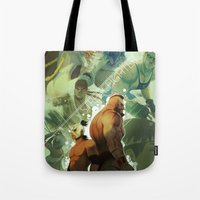 street fighter Tote Bags featuring Street Fighter by jaimito