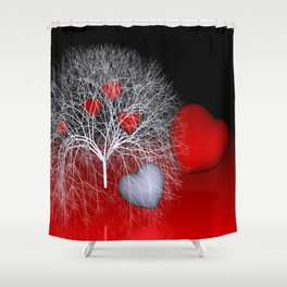 love is everywhere Shower Curtain