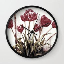 tulips della finestra - floral still life Wall Clock