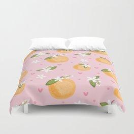 Orange Blossoms Duvet Cover