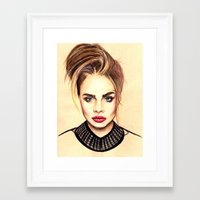 cara Framed Art Prints featuring Cara. by Annie Mae Herring
