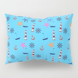 Nautical Beach Pattern Pillow Sham