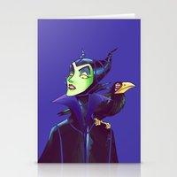 maleficent Stationery Cards featuring Maleficent by KanaHyde