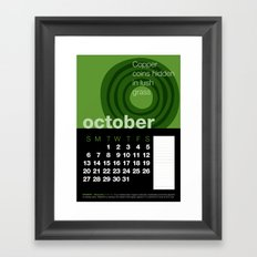 2013 Pigment to Pantone Calendar – OCTOBER Framed Art Print