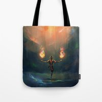 zuko Tote Bags featuring Firebender by AngHuiQing