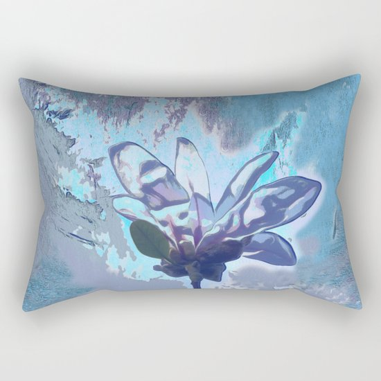 Blue flower fantasy Rectangular Pillow