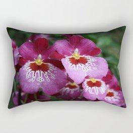 Tropical Flowers Orchids Rectangular Pillow