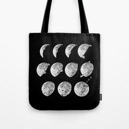 lunar phases of sleep Tote Bag