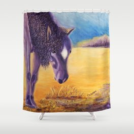 We graze | On broute Shower Curtain