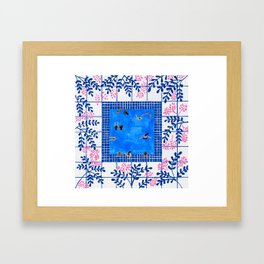 Floral Pool Framed Art Print