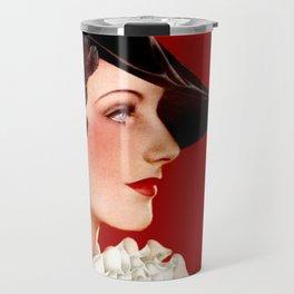 Art Deco Red Travel Mug