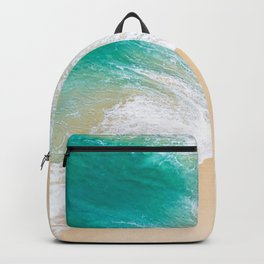 Sand Beach - Waves - Drone View Photography Backpack