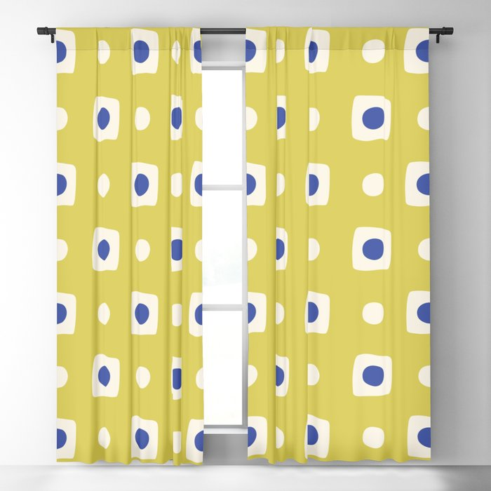 Mid Century Square Dot Pattern 8 Blackout Curtain