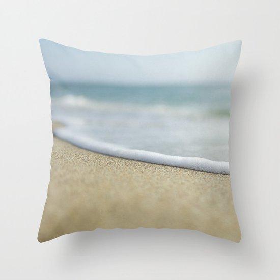 Sea Foam Beach Throw Pillow