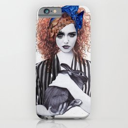 Miss Emma & Her Bunny iPhone Case