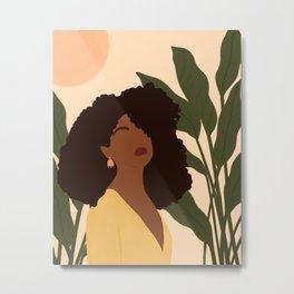 Black Woman Boho Portrait  Metal Print