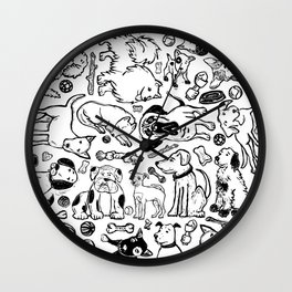 Pup Party Wall Clock