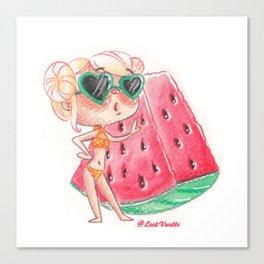Miss pastèque Canvas Print