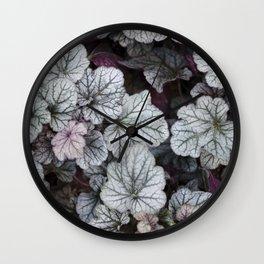 Silver Scrolls Wall Clock