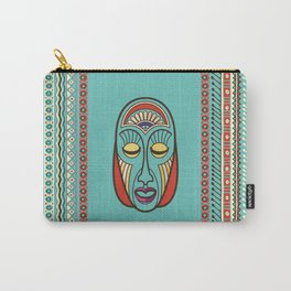 Aboriginal Aztec Inca Mayan Mask Carry-All Pouch