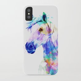 Horse Watercolor, Horse Print, Watercolor Print, Watercolor Animal, Horse Painting, Horse Gift Print iPhone Case